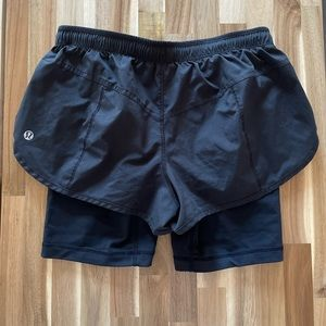 GUC Lululemon Size 4 Black Cycling Shorts